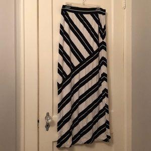 WHBM striped maxi skirt
